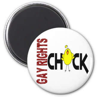 Gay Rights Chick 1 6 Cm Round Magnet