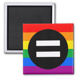 Gay Rights Flag Square Magnet