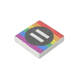 Gay Rights Flag Stone Magnet