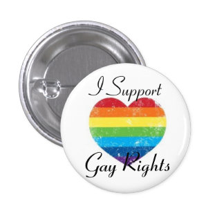 gay rights support 3 cm round badge