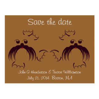 Gay Save the date, Seals Postcard
