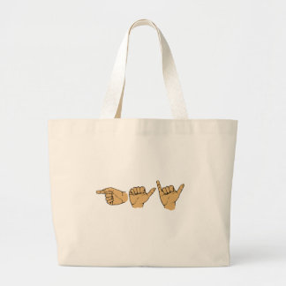 Gay Sign Language Large Tote Bag