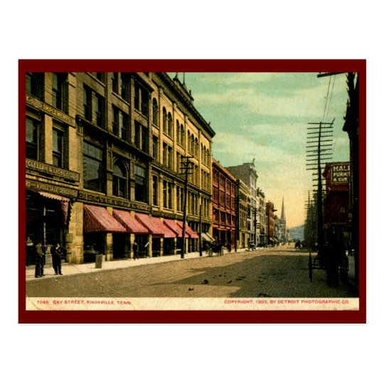 Gay St., Knoxville, Tennessee 1903 Vintage Postcard