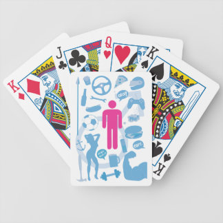 Gay stereotype bicycle playing cards