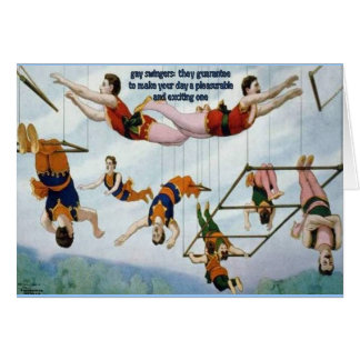 Gay Swingers Greeting Card