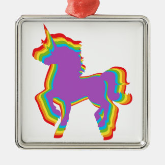 Gay Unicorn LGBT Rainbow Pride Holiday Ornament