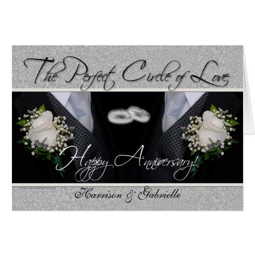 Gay Wedding Anniversary Card Silver and Black
