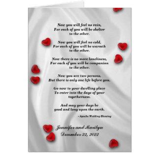 Gay Wedding, Apache Blessing Card