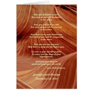 Gay Wedding, Apache Blessing Patterns in Sandstone Greeting Card