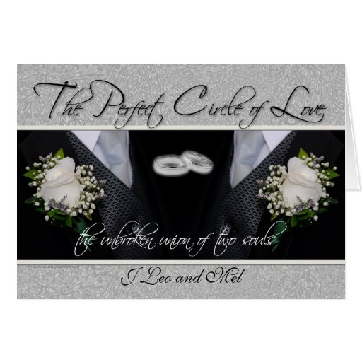 Gay Wedding / Civil Union Custom Card