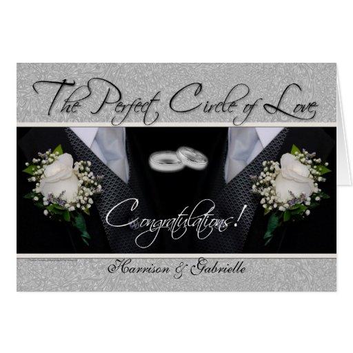 Gay Wedding Congratulations Personalized Card