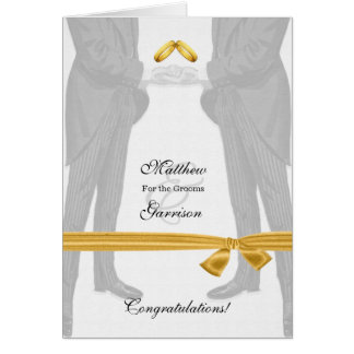 Gay Wedding Congratulations Two Grooms Vintage Greeting Card