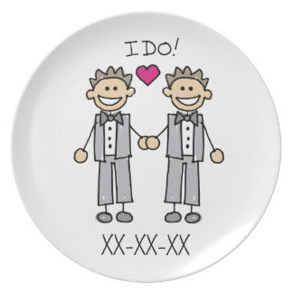 Gay Wedding Groom Plate