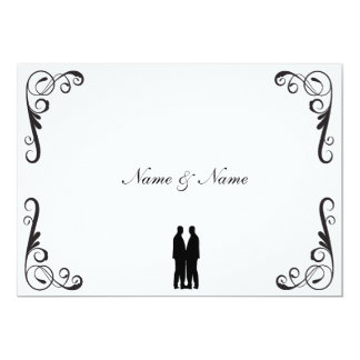Gay Wedding Invitation - Two Grooms