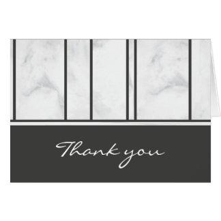 Gay Wedding Marble ı Thank you Card