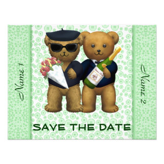 Gay Wedding - Save the Date - Teddy Bears Apple Invitations