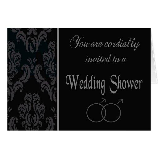 Gay wedding shower invitation card zazzle for Gay wedding shower invitations