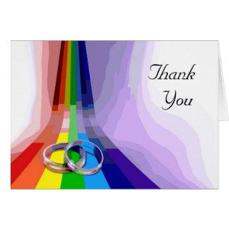 Gay Wedding Thank You Greeting Card