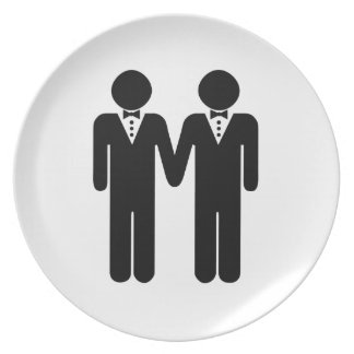 GAY WEDDING TOPPER MEN -.png Plate