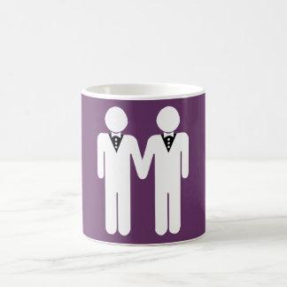 GAY WEDDING TOPPER MEN WHITE - png Mug