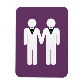 GAY WEDDING TOPPER MEN WHITE - png Rectangle Magnets