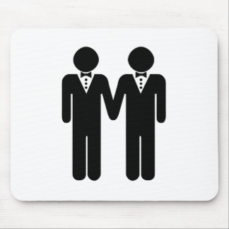 GAY WEDDING TOPPER MOUSE PAD