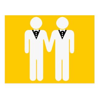 GAY WEDDING TOPPER POSTCARD