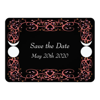 Gay Wiccan Wedding Save the Date Card 11 Cm X 16 Cm Invitation Card