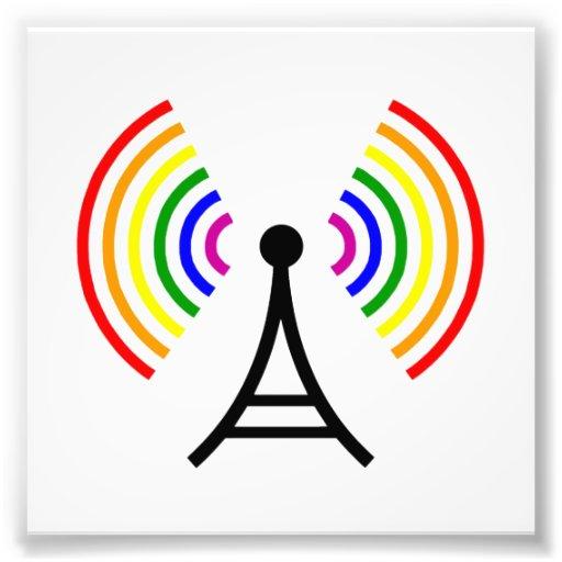 Gay WiFi Rainbow Signal Antenna Photo Art