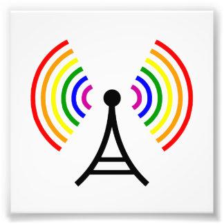 Gay Wifi Rainbow Signal Antenna Photo Print