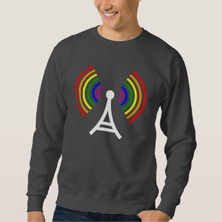 Gay WiFi Rainbow Signal Antenna Sweatshirt