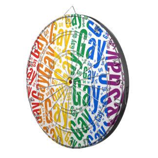 GAY WORD PATTERN COLOR DARTBOARDS