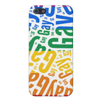 GAY WORD PATTERN COLOR iPhone 5 COVER
