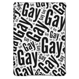 GAY WORDS BLACK - 2014 PRIDE.png iPad Air Cover