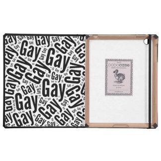 GAY WORDS BLACK - 2014 PRIDE.png iPad Folio Case