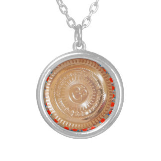 GAYATRI Mantra Hinduism Religion Diwali India gift Silver Plated Necklace