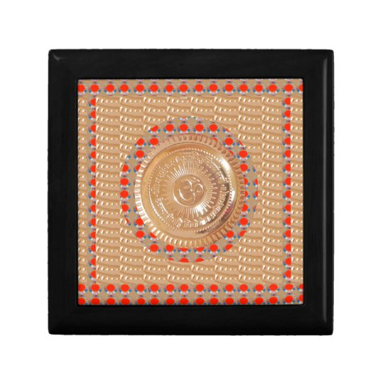 GAYATRI Mantra n OmMantra Symbol Embossed GOLD Gift