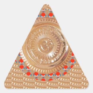 GAYATRI Mantra n OmMantra Symbol Embossed GOLD Sticker