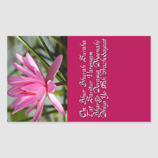 Gayatri mantra rectangular stickers