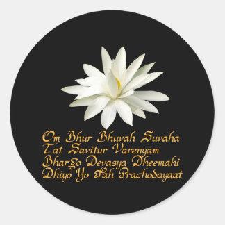 Gayatri mantra stickers
