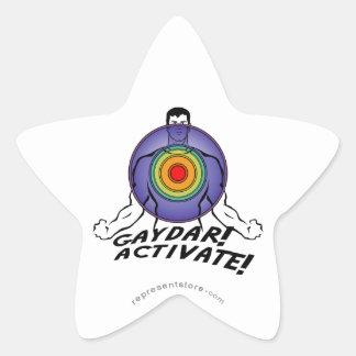 Gaydar! Activate! Rainbow Gay Sticker