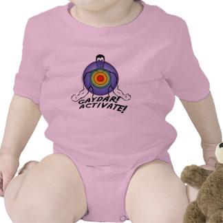 Gaydar! Activate! Rainbow Gay Baby Bodysuit