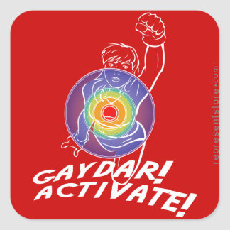 Gaydar! Activate! Rainbow Lesbian Sticker