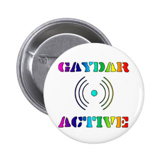 Gaydar Active II Pinback Button