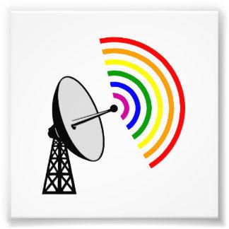 Gaydar Gay Rainbow Radar Photographic Print