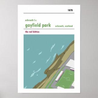 Gayfield Park, Arbroath. Haynes Manual Style print