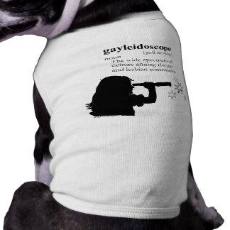 GAYLEIDOSCOPE SLEEVELESS DOG SHIRT