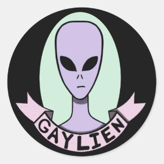Gaylien [STICKER] Classic Round Sticker