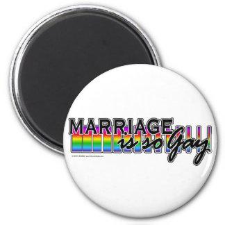 GayMarriageRainbowBar Refrigerator Magnets