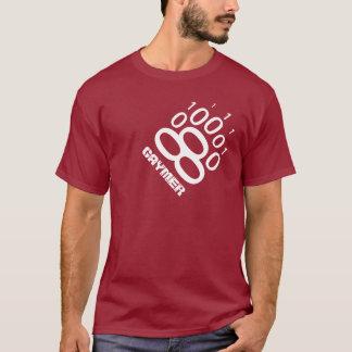 Gaymer Binary Bear Paw (White) T-Shirt